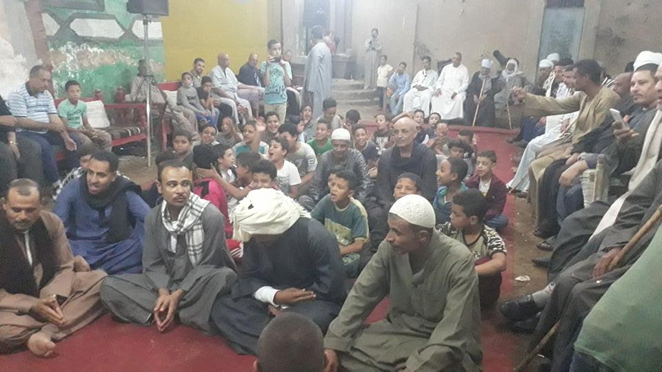 ابتهالات وأناشيد إسلامية في ليلة المولد النبوي في سوهاج