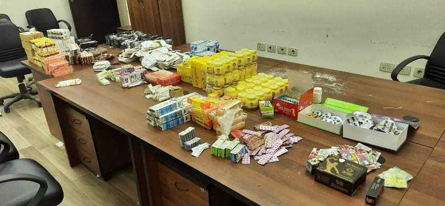 ضبط أدوية مهربة إلى دولة السودان