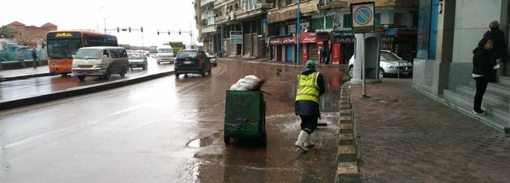 هطول أمطار في الإسكندرية