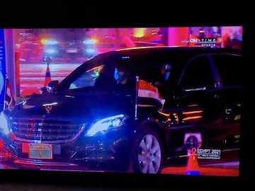 وصول الرئيس السيسي ستاد القاهرة