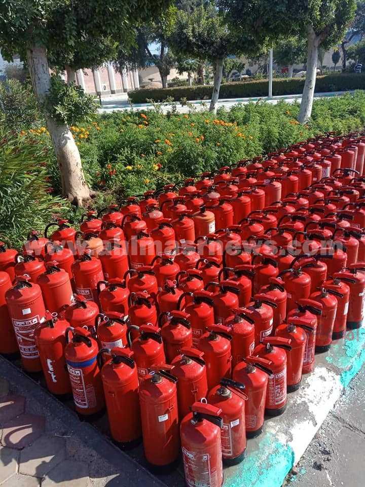 تعبئة وصيانة  135 طفاية حريق بمياه أسيوط