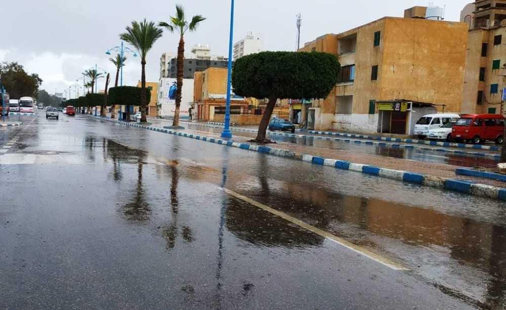 سقوط أمطار علي مطروح والساحل الشمالي