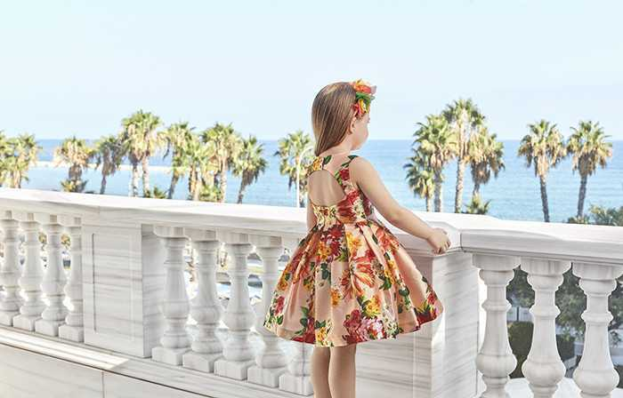 فستان باقة ورد