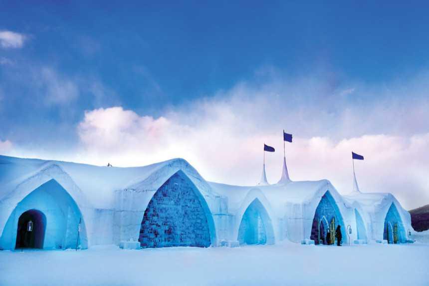 فندق الجليد في السويد