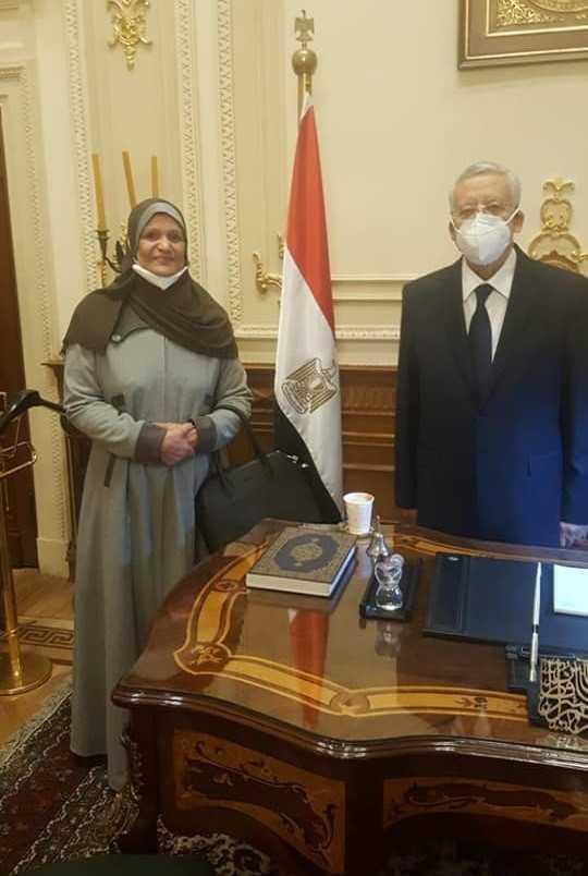 لقاء نائبة سيوة مع رئيس مجلس النواب
