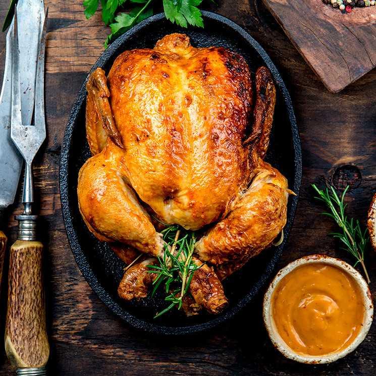 طريقة عمل دجاج مشوي بالزعتر