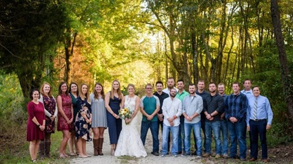 عروس تحتفل بزفافها